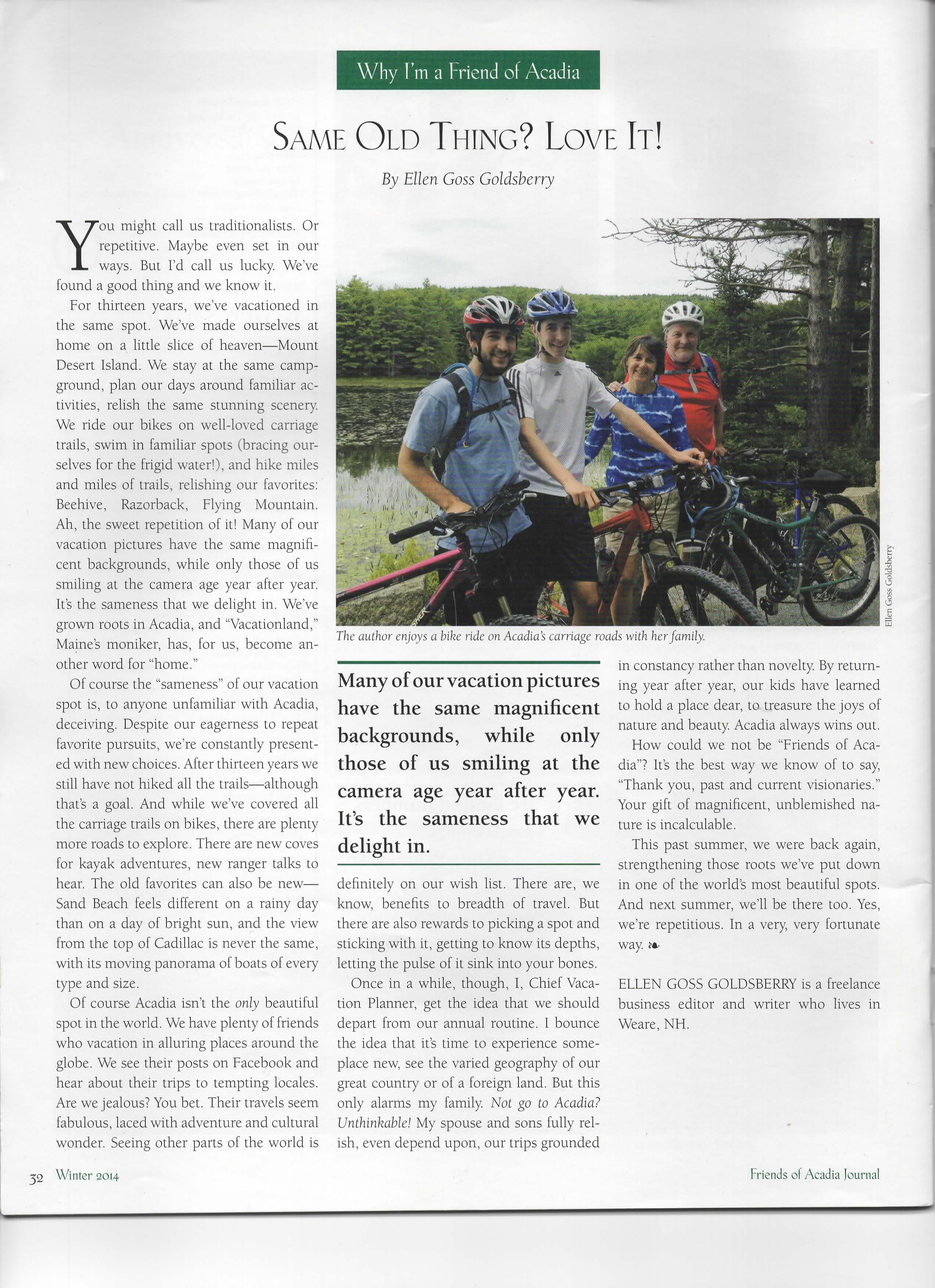 Friends of Acadia magazine