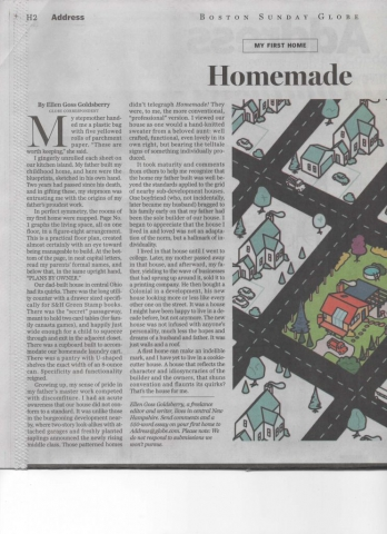 "Boston Sunday Globe, ""Homemade"""