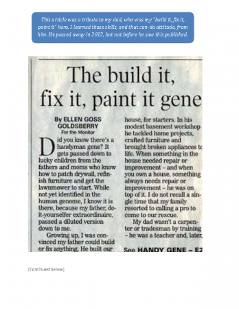 The Build-it Fix-it Paint-it Gene