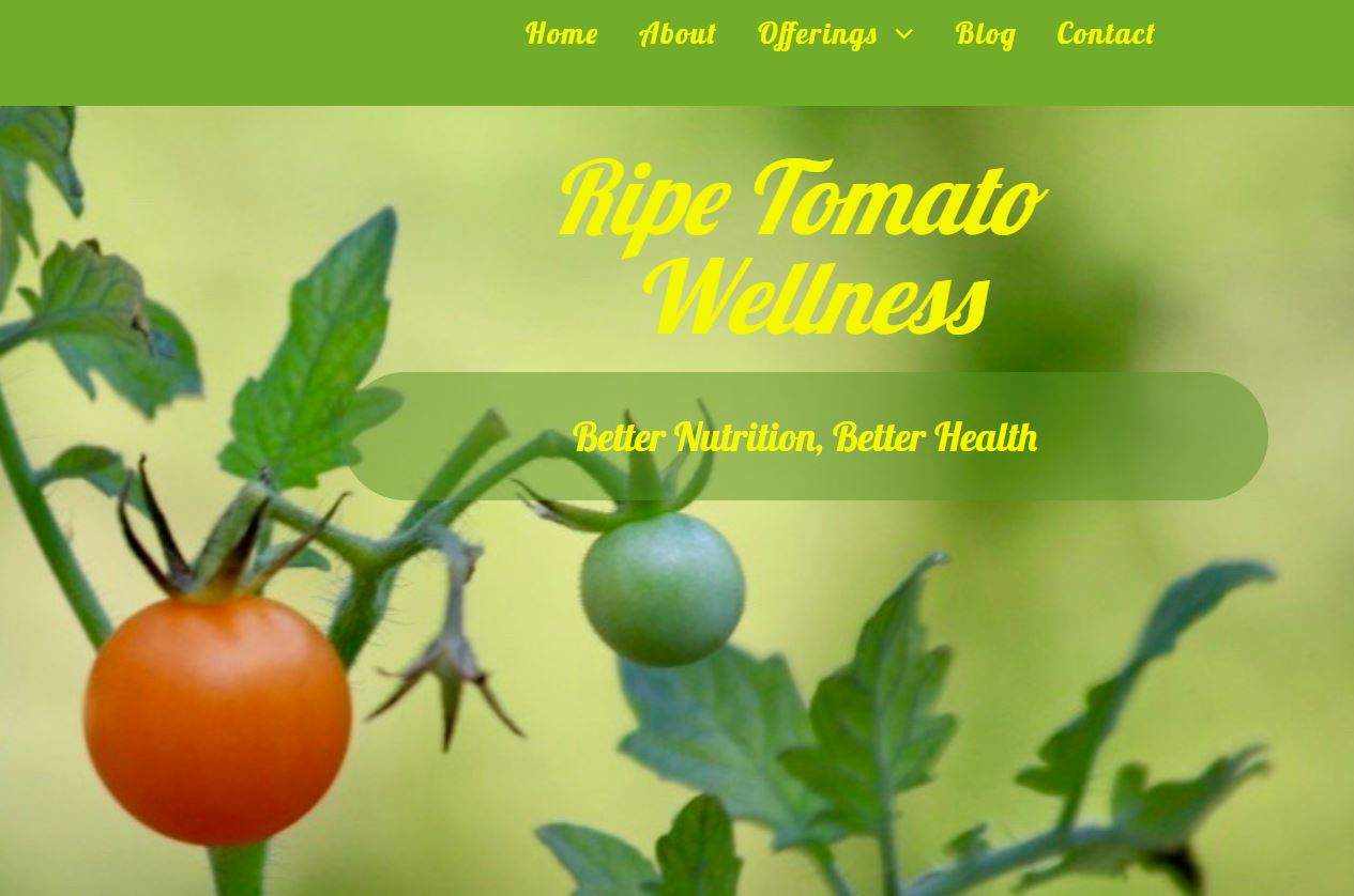 Ripe Tomato Wellness homepage